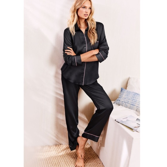 edb96724f8 Victoria s Secret After Hours Black Pajama Set